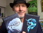 Here's me proudly holding Erth Dragons #1 and UNICORNE Files #1